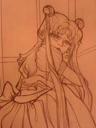 Heartbroken Usagi by whiteecho