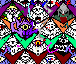 Repeating Eye Background by blawte