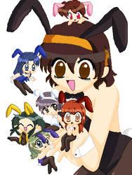 Haruhi Suzumiya Bunny Girls by xxLucky-Miaxx