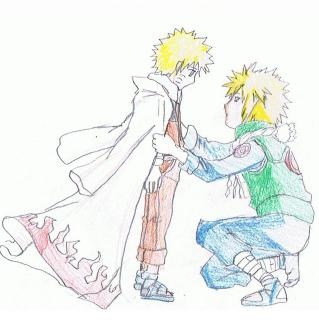 Naruto and Minato by idoodleinschool
