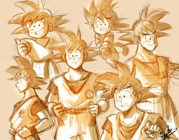 Goku_sketch by wernwern