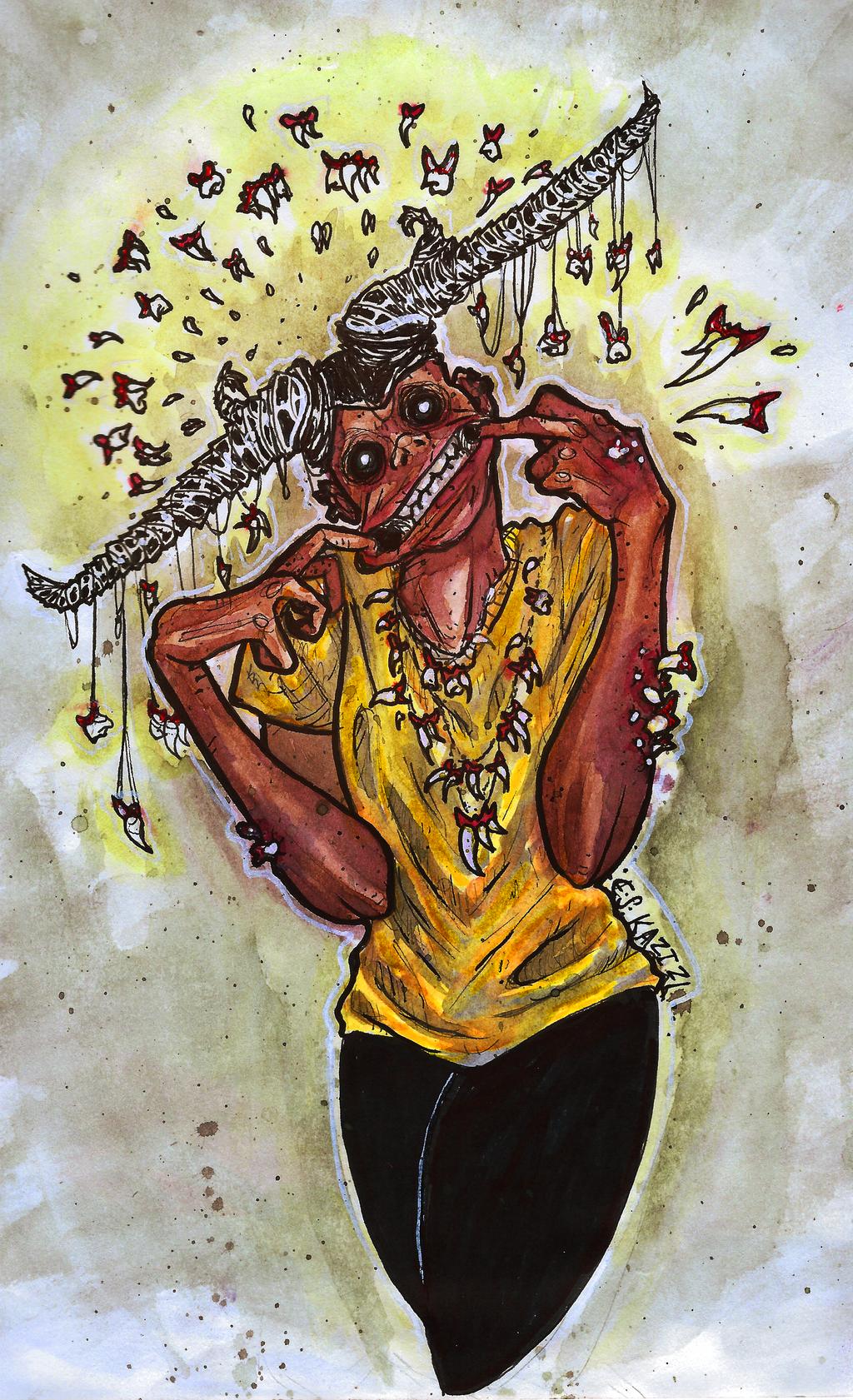 Inktober #3: Collector by Kazocks