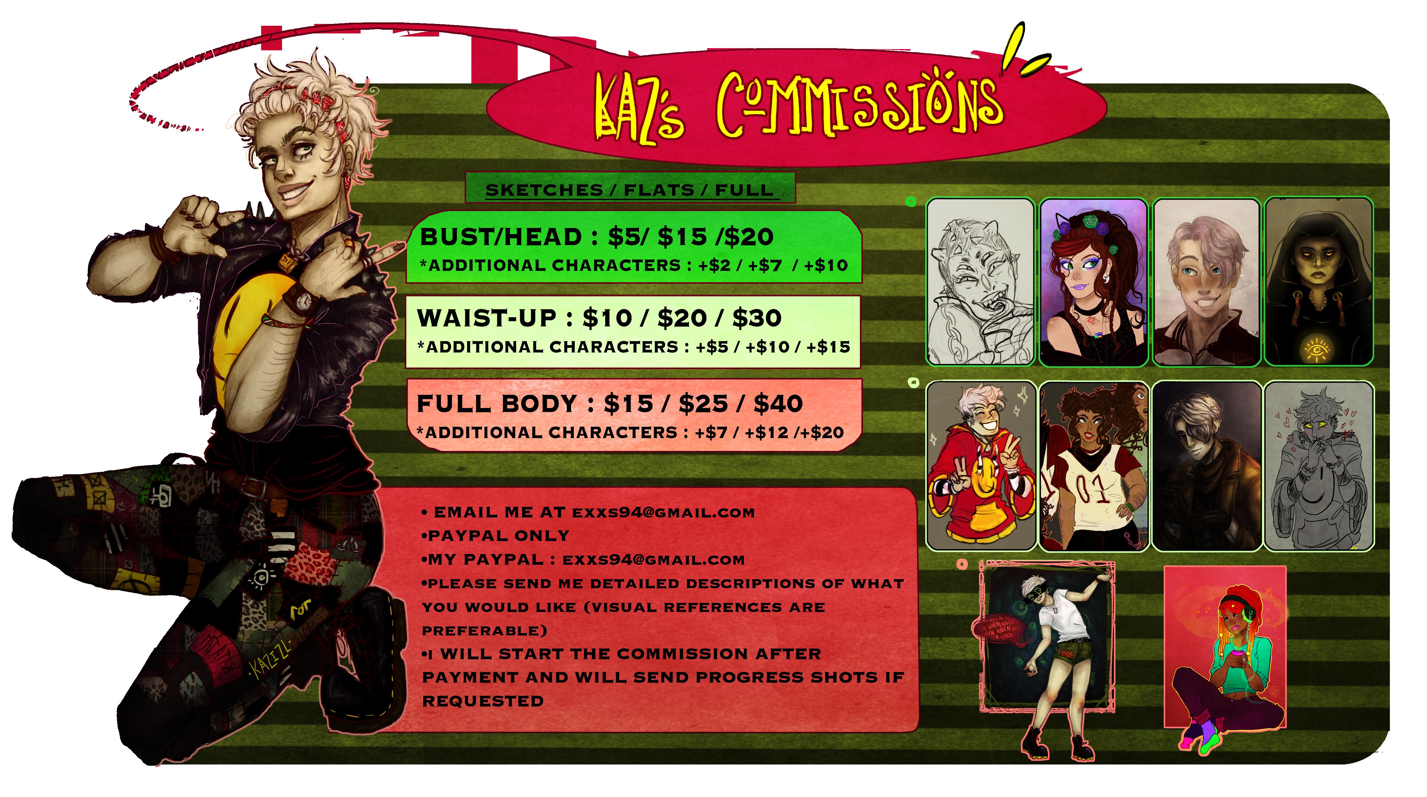 Commission Info Sheet by Kazocks
