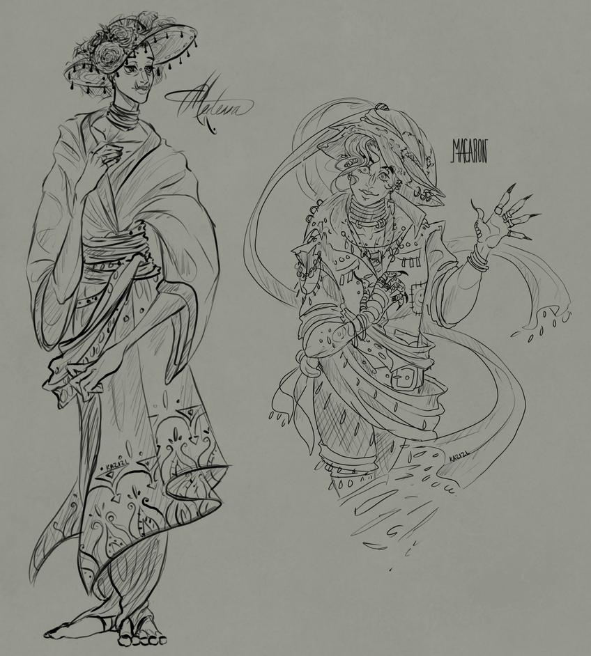 Medeva and Macaroon by Kazocks