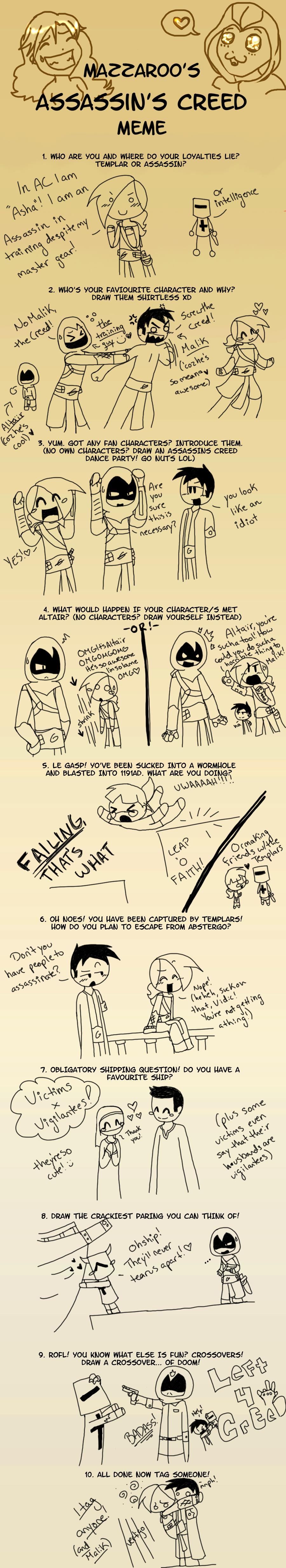 Maz's Assassin Creed Meme by explodingcrayon93