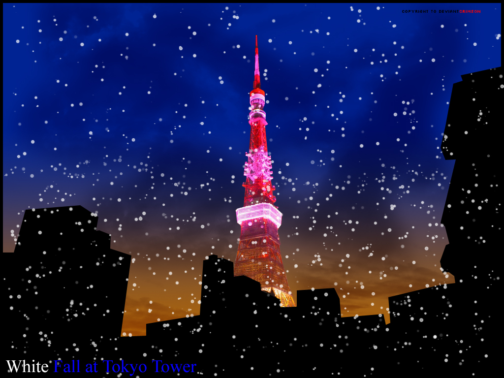 White Fall At Tokyo Tower by frail-wyvern