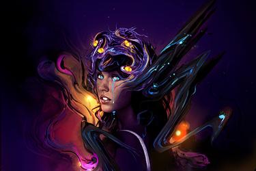 demon girl by iagoblack