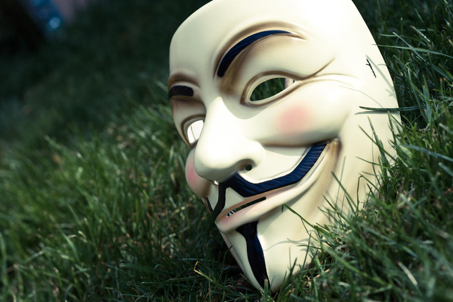 Mask in the Grass by xNamelessNeko