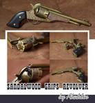 Sandalwood grips revolver