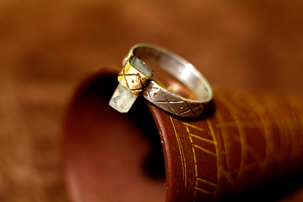 Ancient style topaz and silver ring by AlladdinSE