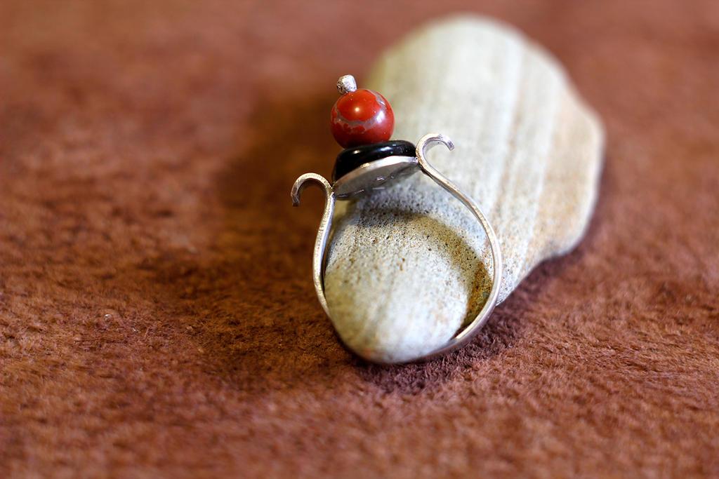 Jasper ball ring by AlladdinSE