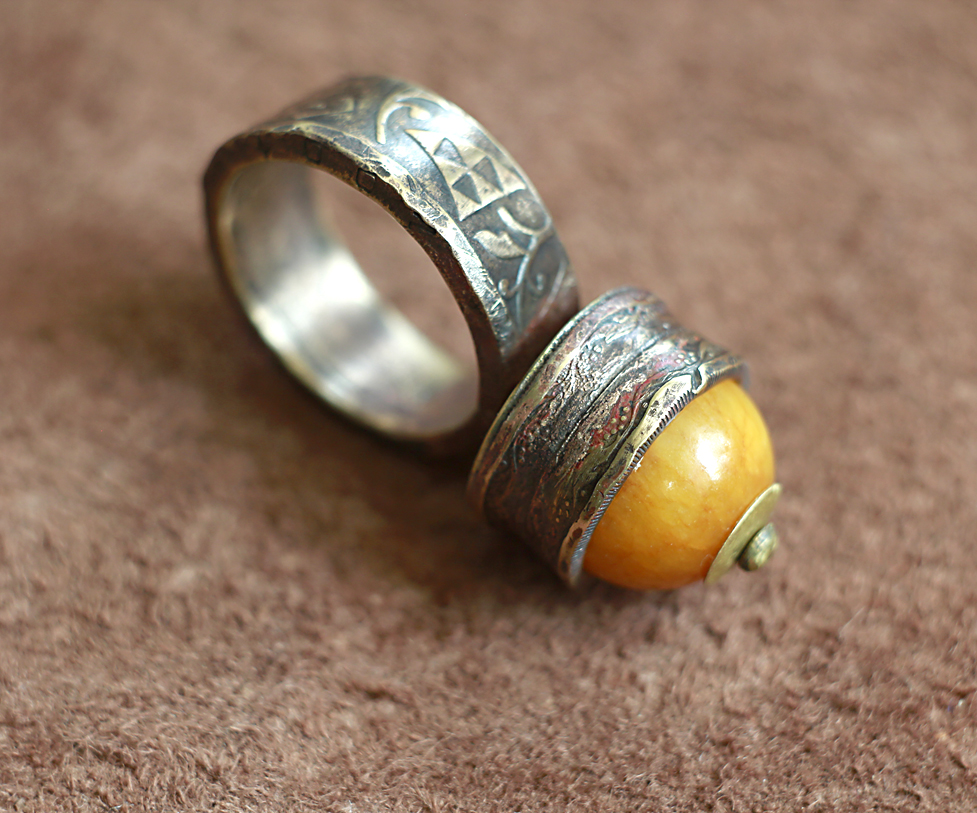 Coins and Jasper ring by AlladdinSE