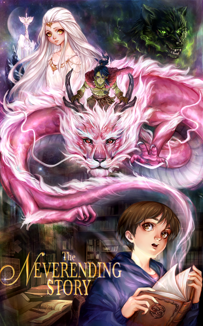 the neverending story by AireensColor