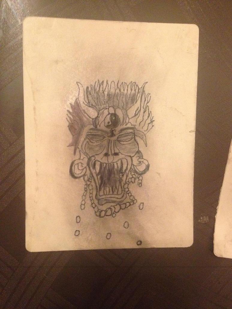 Demonic samurai tattoo fake skin by defiantanime on deviantart for Tattoo on fake skin