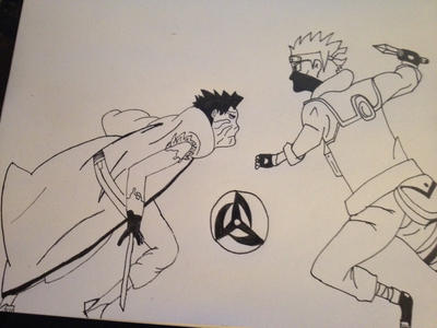 Obito vs kakashi by DefiantAnime
