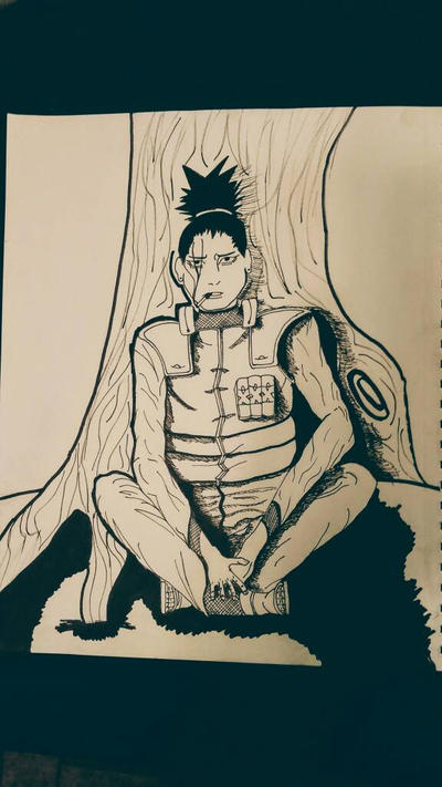 shikamaru ninja of the shaddows  by DefiantAnime