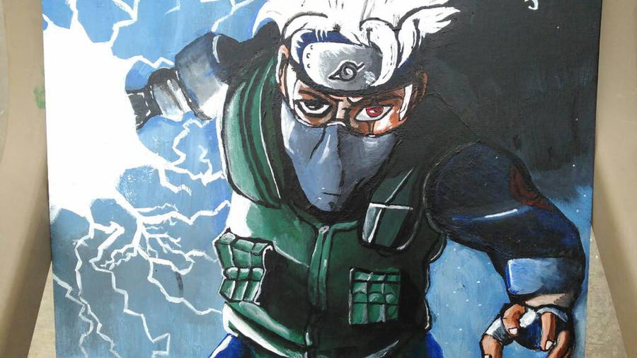kakashi painting by DefiantAnime