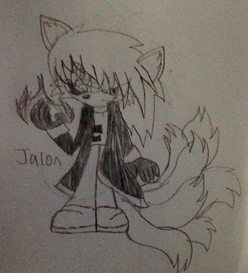 Jalon the 7 tailed dragon slayer wolf sage by TjTheHedgiePlz