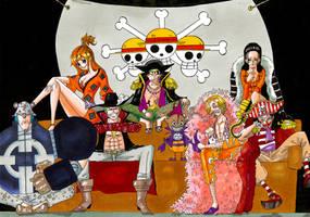 ONE PIECE - Straw Hat Crew X Schichibukai by Why2be