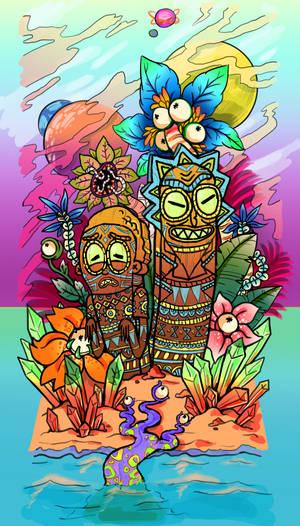 Tiki Rick and Morty Tat