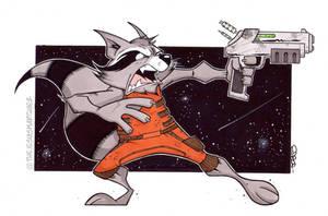Rocket Raccoon. by THEjesusmarquez