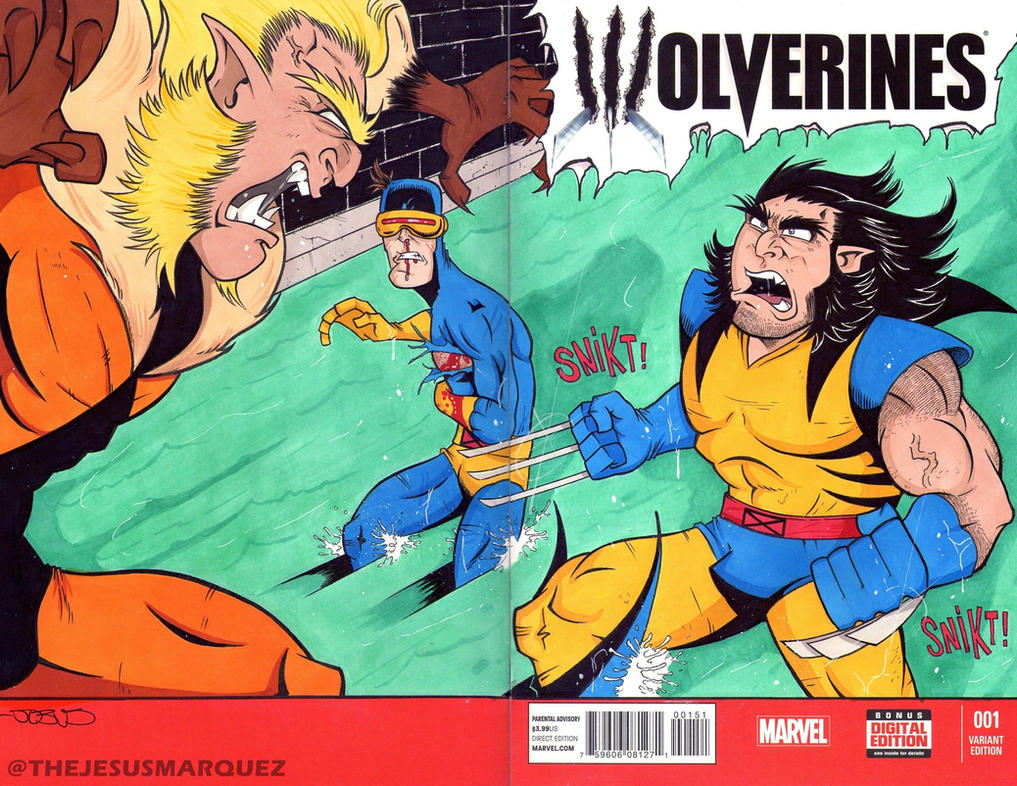Wolverines Sketch Cover by THEjesusmarquez