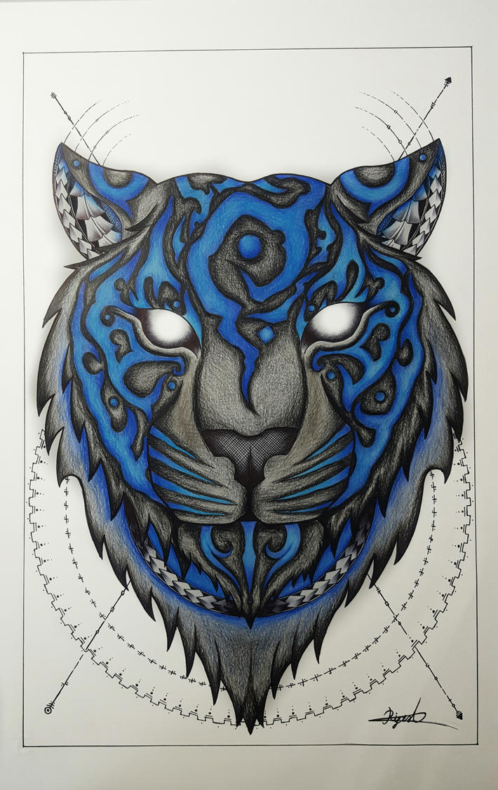 Blue Tiger  by CosmicDarK