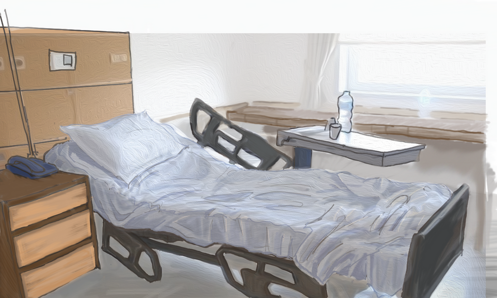 Hospital room process chambre d 39 hopital by for Chambre hopital