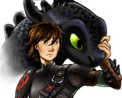 Older Hiccup And Toothless by supervannah