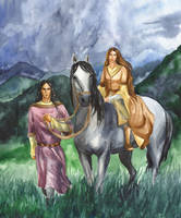 Fingon with his fiancee. by Filat