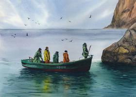 Crimea fishermen