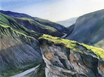 landscape for practice by Filat