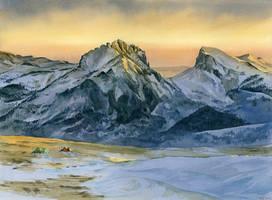 Sunrise peaks - 2 by Filat