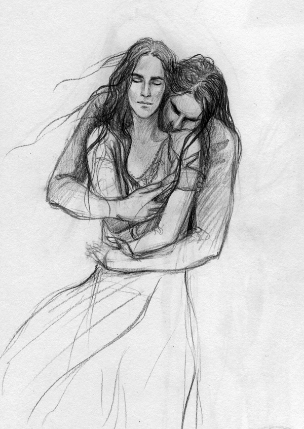 Anaire and Nolofinwe sketch - 3 by Filat