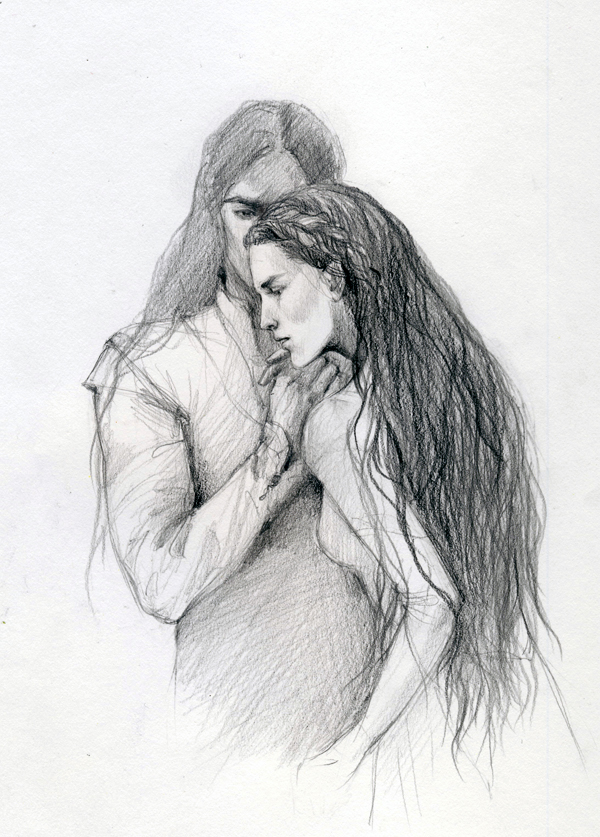 Anaire and Nolofinwe sketch - 4 by Filat