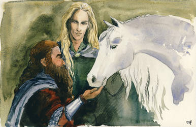 Friendship between peoples / Legolas and Gimli by Filat