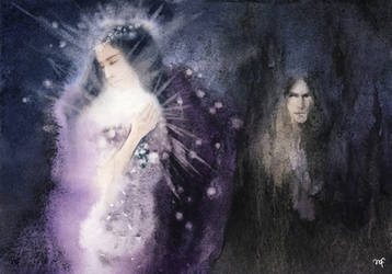 Morgoth and women / Varda and Melkor by Filat