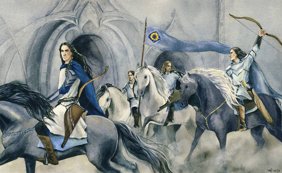 Fingon with his horseback archers