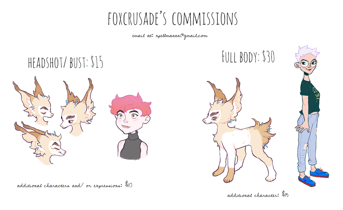 Commission info! by foxcrusade