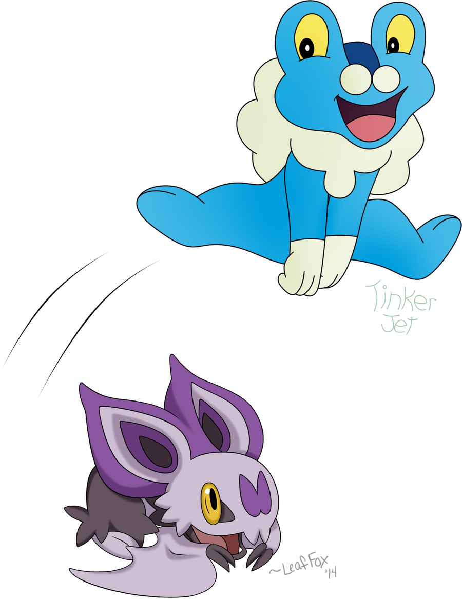 Leap Froakie Collab! by LeafFox