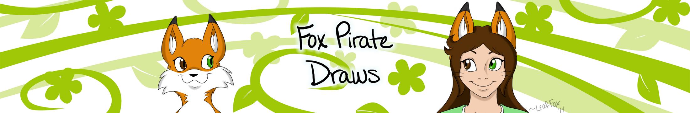 FoxPirate Draws Logo by LeafFox