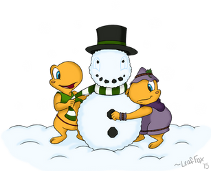 Secret Santa: Snow Toad by LeafFox