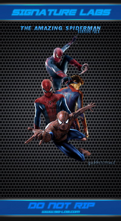 Renders Pack 02 - The Amazing Spiderman by gabber1991md