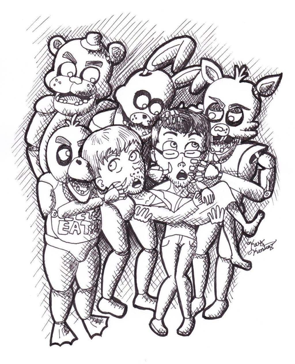 Five nights at freddy 4 nightmare freddy coloring pages coloring pages