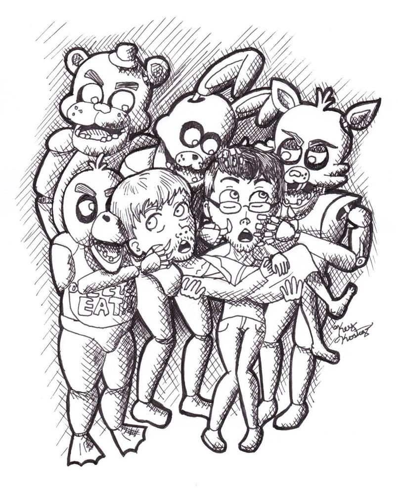 Five nights at freddy 39 s yamimash markiplier by for Freddy coloring pages