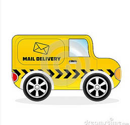 Cartoon Mail Delivery Van