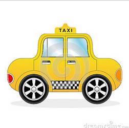 Cartoon Yellow Taxi Car