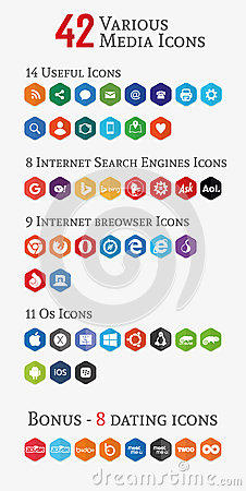 Various media polygon icons