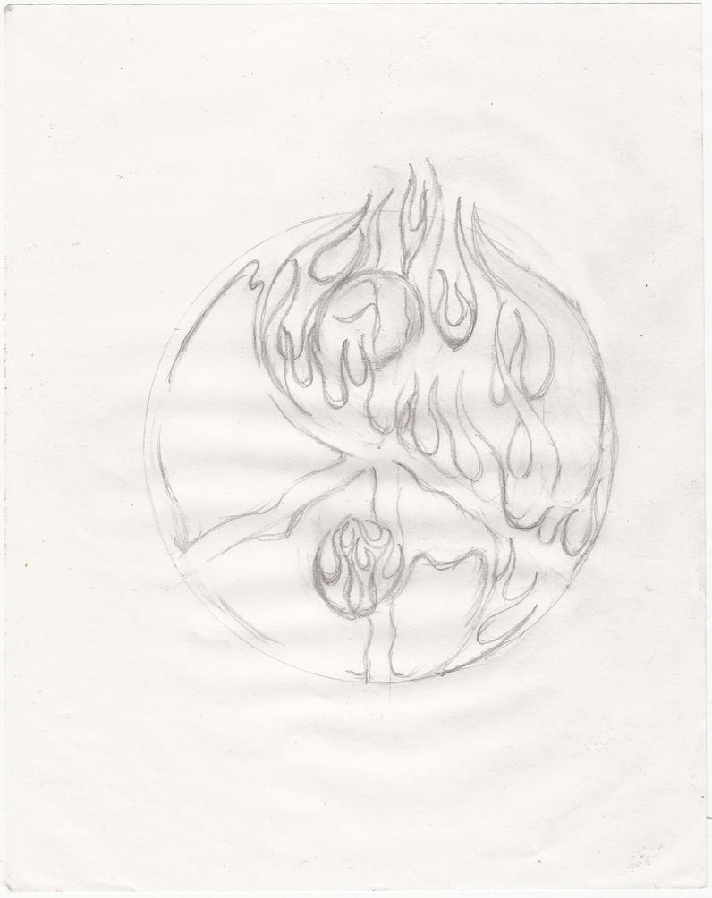 Tattoo template fire and ice by jainism1492 on deviantart for Fire and ice tattoo shop