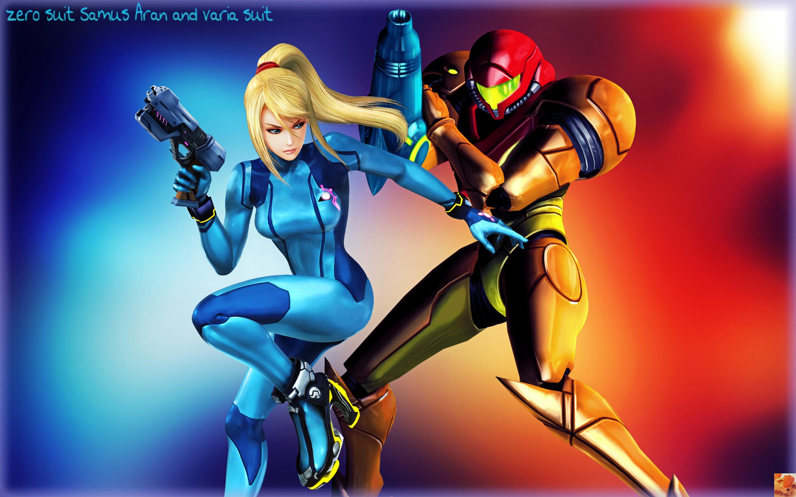 Metroid Samus Aran Zero Suit And Varia Suit By Firefox4x On Deviantart